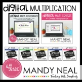 Fourth Grade Digital Math Multiplication Bundle | Distance
