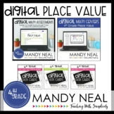 Fourth Grade Digital Math Place Value Bundle | Distance Learning