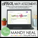 Fourth Grade Digital Self-Grading Addition and Subtraction