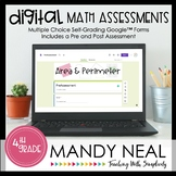 Fourth Grade Digital Self-Grading Area & Perimeter Math As