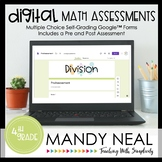 Fourth Grade Digital Self-Grading Division Assessments | D
