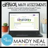 Fourth Grade Digital Self-Grading Geometry Assessments | D