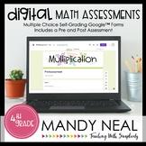 Fourth Grade Digital Self-Grading Multiplication Assessmen