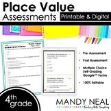 Fourth Grade Digital Self-Grading Place Value Assessments
