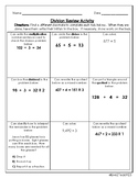 Fourth Grade Division Review Activity