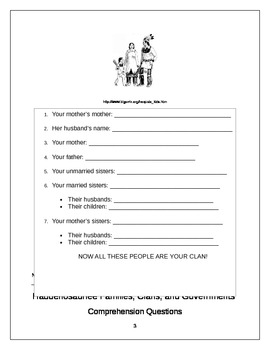 """Fourth Grade ELA Common Core Iroquois: """"Families, Clans, and Government!"""""""
