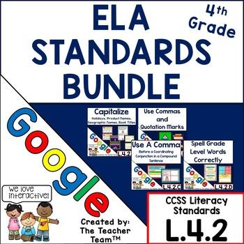 Fourth Grade Grammar Skills ELA  Practice Bundle for CCSS L.4.2 for Google Drive