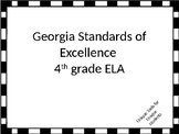 Fourth Grade ELA Standards for GSE Posters with Black and