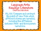 Fourth Grade ELL Common Core Standards Orange background doodle font
