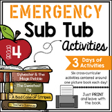 Fourth Grade Emergency Sub Activities Unit