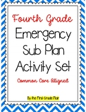 Fourth Grade Emergency Sub Plan Packet (20 pages!)