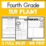 Emergency Sub Plans   Fourth Grade   Back to School