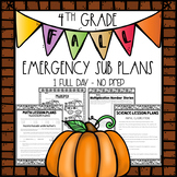 Fourth Grade Emergency Sub Plans - Fall