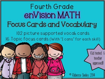Fourth Grade: EnVisions Vocab Cards and Focus Wall