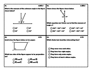 Fourth Grade End of Grade Common Core Math Review Scoot Game