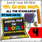 Fourth Grade End of Year Math Review: Google Classroom!