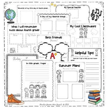 Fourth Grade End of the Year Memory Book