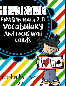 Fourth Grade Envision Math 2.0 Focus Wall