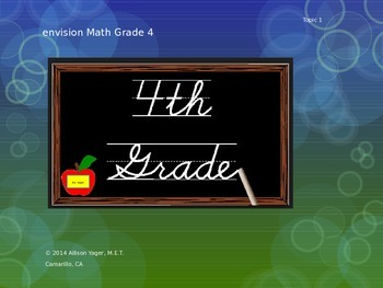 Fourth Grade Envision Math Topic 1 PowerPoint