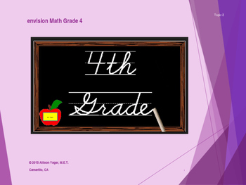 Fourth Grade Envision Math Topic 2 PowerPoint