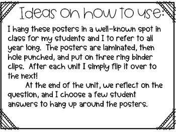 Fourth Grade Essential Question Posters-BenchmarkAdvance Resource