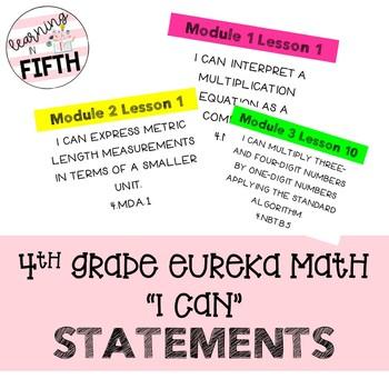 Fourth Grade Eureka Math I Can Statements