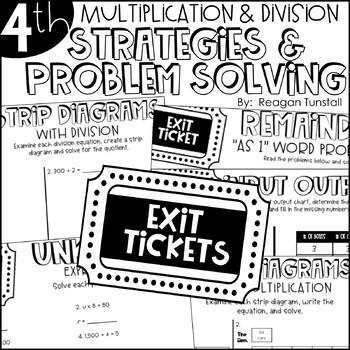 Fourth Grade Exit Tickets Bundle