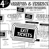 Fourth Grade Exit Tickets Data, Graphs, and Personal Finance