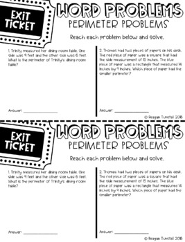 Fourth Grade Exit Tickets Measurement