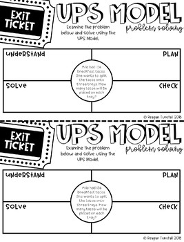 Fourth Grade Exit Tickets Multiplication & Division Strategies & Problem Solving