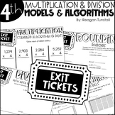 Fourth Grade Exit Tickets Multiplication and Division Models & Algorithms