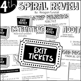 Fourth Grade Exit Tickets Spiral Review
