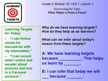 Fourth Grade Expeditionary Learning Module 1B Unit 1 Lesson 1