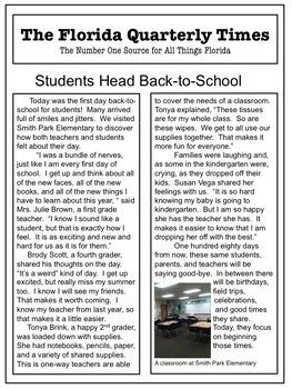 Back-To-School Common Core Writing Pretest