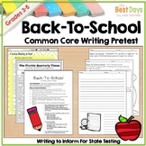 Back-To-School Common Core Writing Pretest-Great for FSA Writing