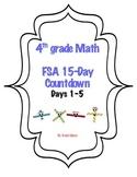 Fourth Grade FSA Math 15 Day Countdown Days 1-5