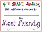 "Fourth Grade ""FUN"" Awards"