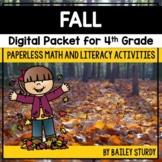 Fourth Grade Fall Math and Literacy Digital Packet