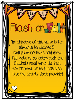 Fourth Grade Fall Multiplication Games