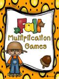 Fourth Grade Fall Multiplication Games