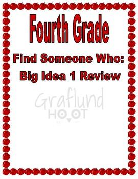 Fourth Grade,  Find Someone Who: Big Idea 1 Review
