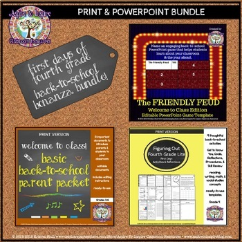 Fourth Grade First Days Back-to-School Bonanza Bundle