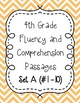 Fourth Grade Fluency and Comprehension Passages Set A (Passages 1-10) DORF