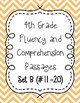 Fourth Grade Fluency and Comprehension Passages Set B (Passages 11-20) DORF