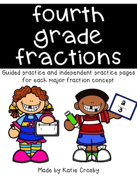 Fourth Grade Fraction Worksheets