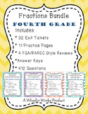 Fourth Grade Fractions Bundle: Exit Tickets, Practice & More