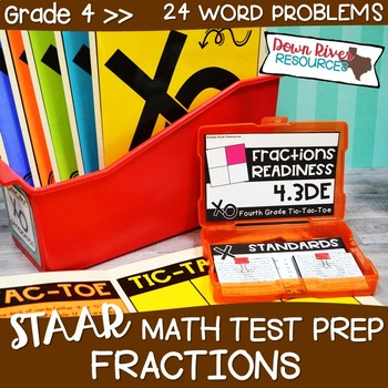 Fourth Grade Fractions Math Test Prep Review Game | 4th Grade TEKS
