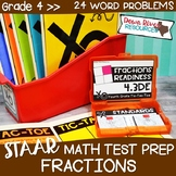 Fourth Grade Fractions Math Test Prep Review Game | 4th Gr