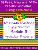 Fourth Grade Fractions Problem Solving 2 step Engage New York Module 5