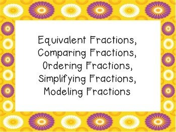"Fourth Grade Fractions-""Show Your Thinking"" Activity Cards"